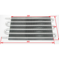 Радиатор АКПП tc-404A трубчатый 6 рядный без спирали (400х190х20)