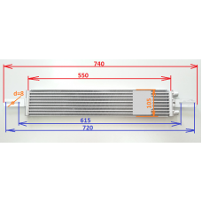 Радиатор АКПП tc-825 [740*105*18], ядро 550х105х18, S=575 см²